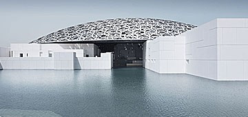 Kuppel des neuen Louvre in Abu Dhabi