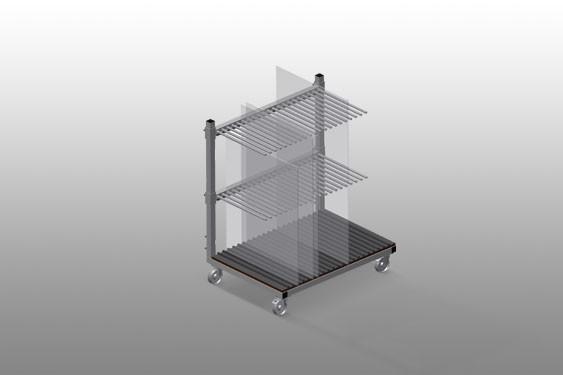 GF 1000 Glass transport trolley
