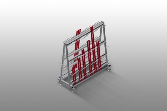 GLW 48 Glazing bead trolley