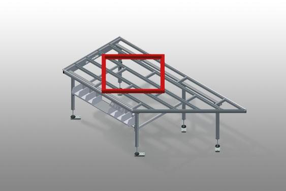 HT 2045 L Horizontal table – Left table, 45°