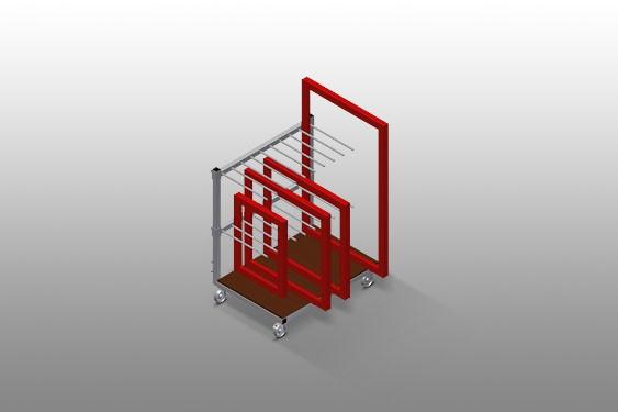 RF 1000 Frame transport trolley