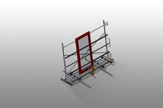VR 3000 DF - Vertical roller conveyor with mobility and rotation mechanism