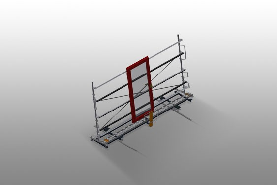 VR 4000 DF - Vertical roller conveyor with mobility and rotation mechanism