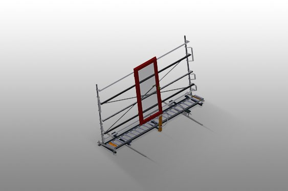 VR 4003 DF - Vertical roller conveyor with mobility and rotation mechanism