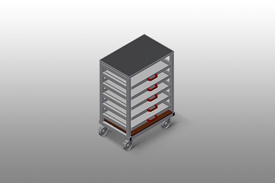 TWS 500 trolley for supports and tools