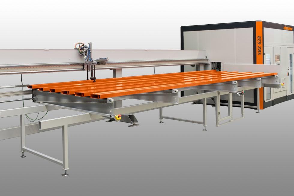 SBZ 628 – Profile machining centre loading (2015) Elumatec